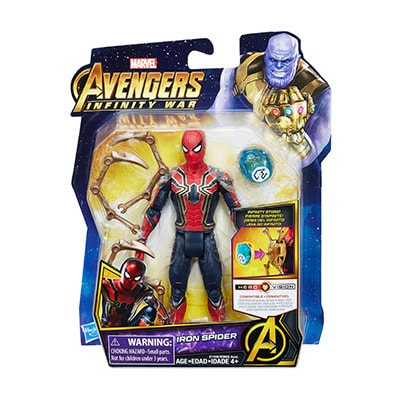 Iron Spider Figure with Infinity Stone