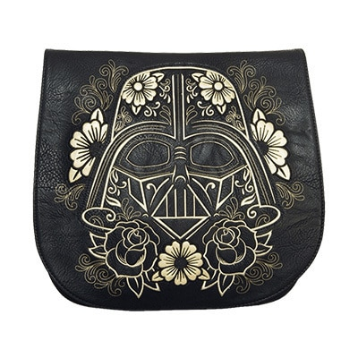 Darth Vader Black & Gold Loungefly Crossbody Bag