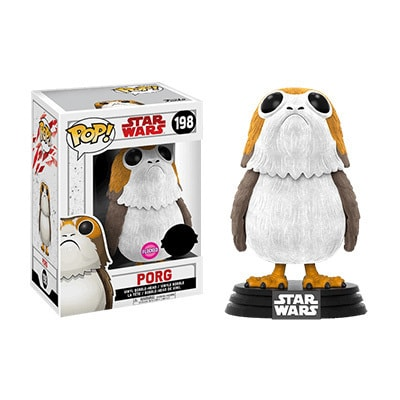 Star Wars The Last Jedi Porg Flocked Pop! Vinyl Figure