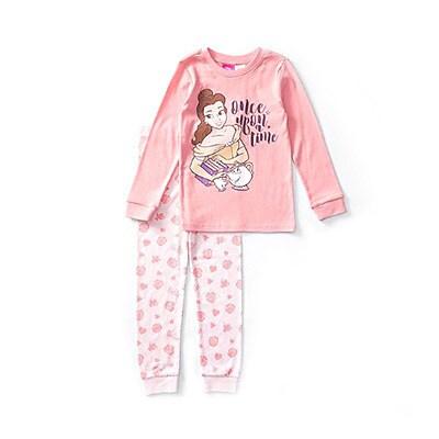 Princess Belle Long Sleeve Pink PJ Set