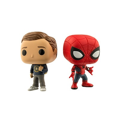Peter Parker and Spider-Man Pop Vinyl