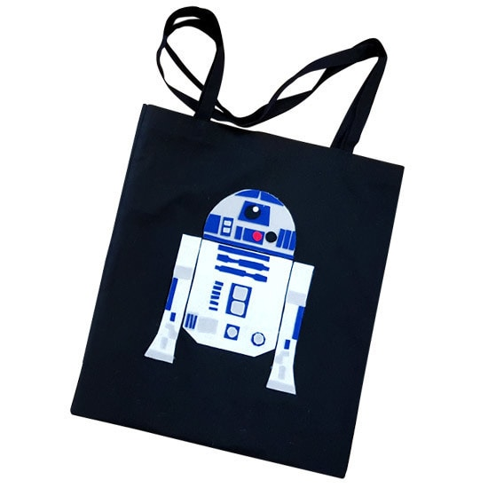 R2D2 Star Wars DIY Tote Bags Template PDF