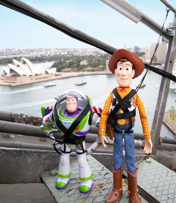 Toy Story 4 - Buzz and Woody climb the Sydney Harbour Bridge