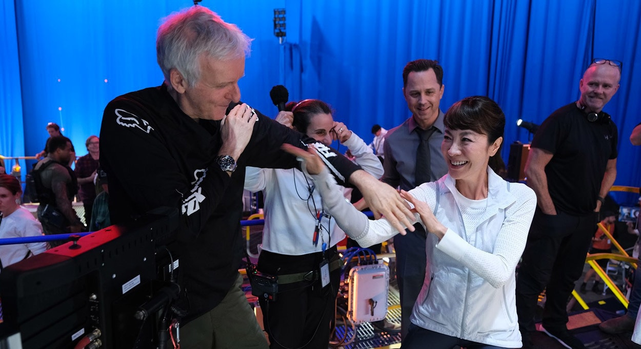 James Cameron and Michelle Yeoh