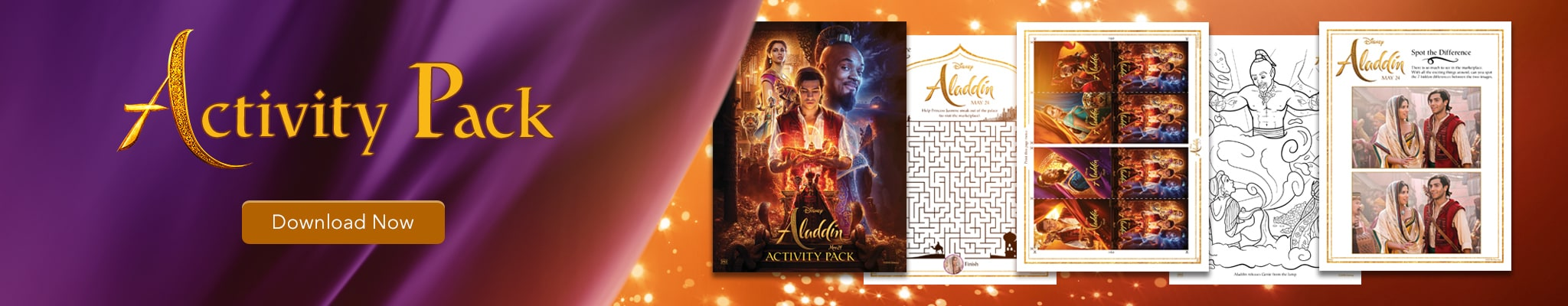 Aladdin activity pack.  Download now.