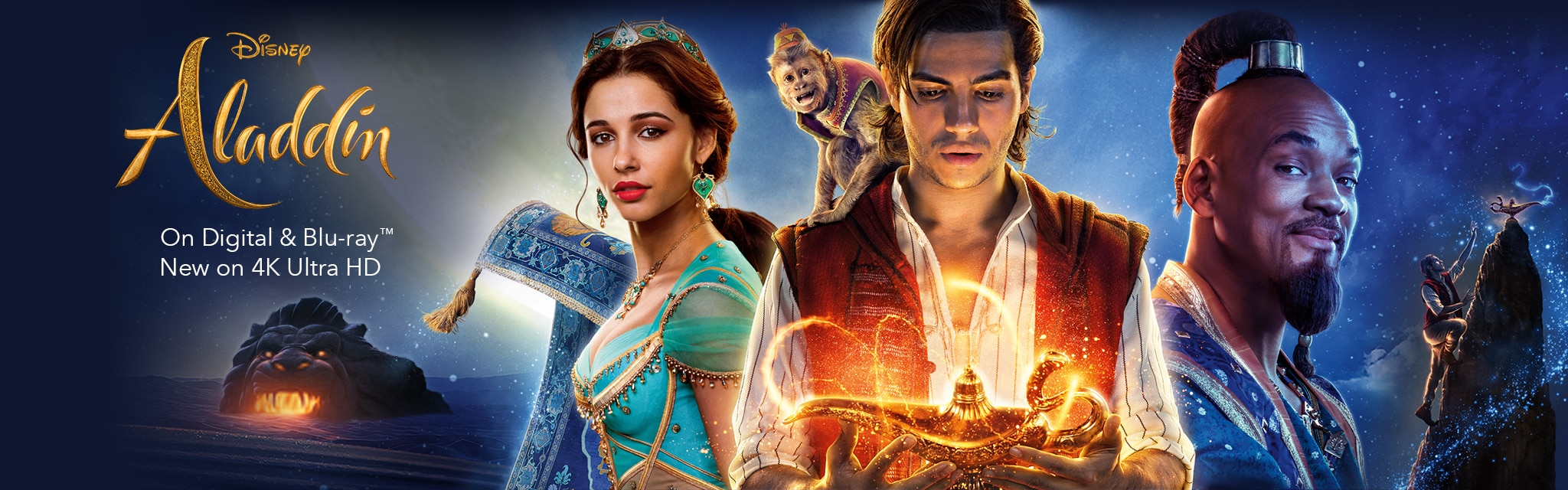 Disney Aladdin - On Digital and Blu-ray. New on 4K Ultra HD.