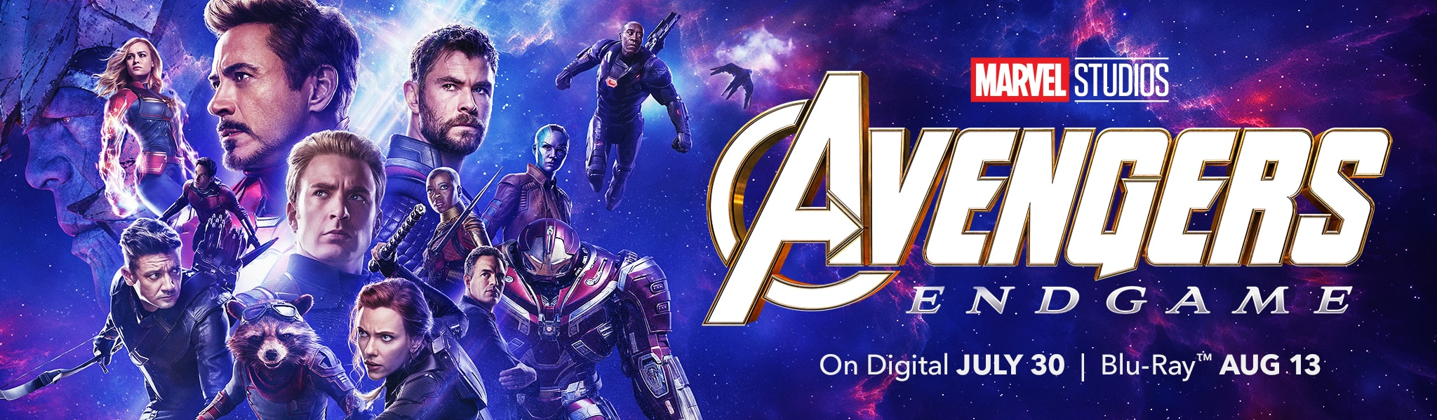 Marvel Studios - Avengers Endgame - On Digital July 30 - Blu-ray Aug 13