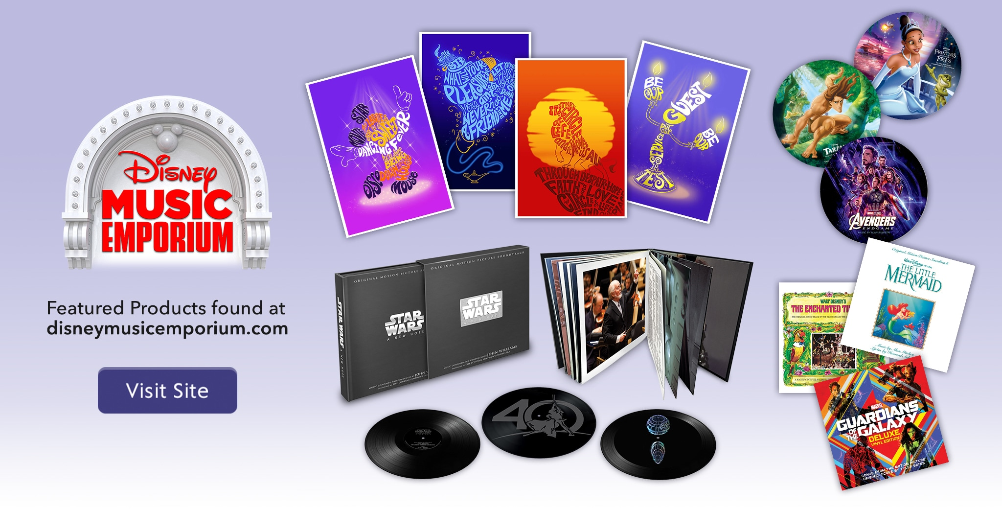 Visit for Featured Products from Disney Music Emporium
