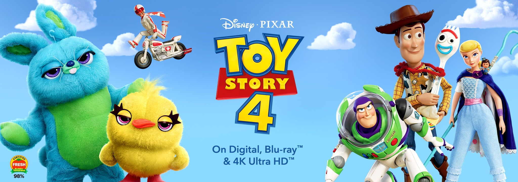 Disney - Pixar: Toy Story 4. On Digital, Blu-ray & 4K Ultra HD