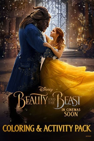 Beauty and the Beast Colouring and Activity Pack