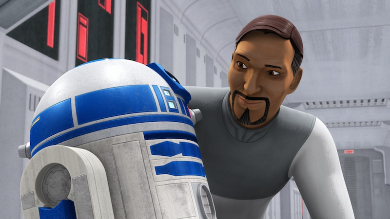 Bail Organa and R2-D2
