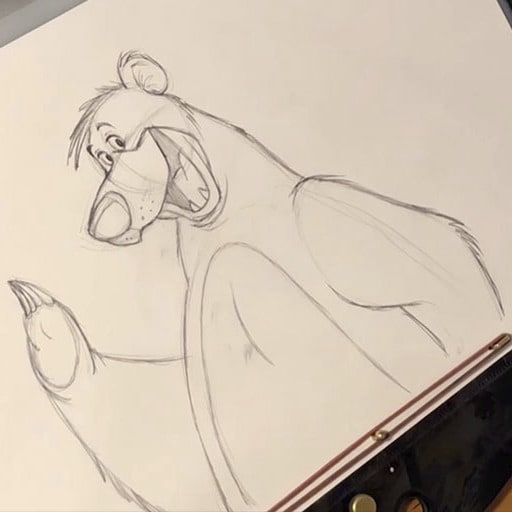 Learn How to Draw Baloo From The Jungle Book With Disney Animation