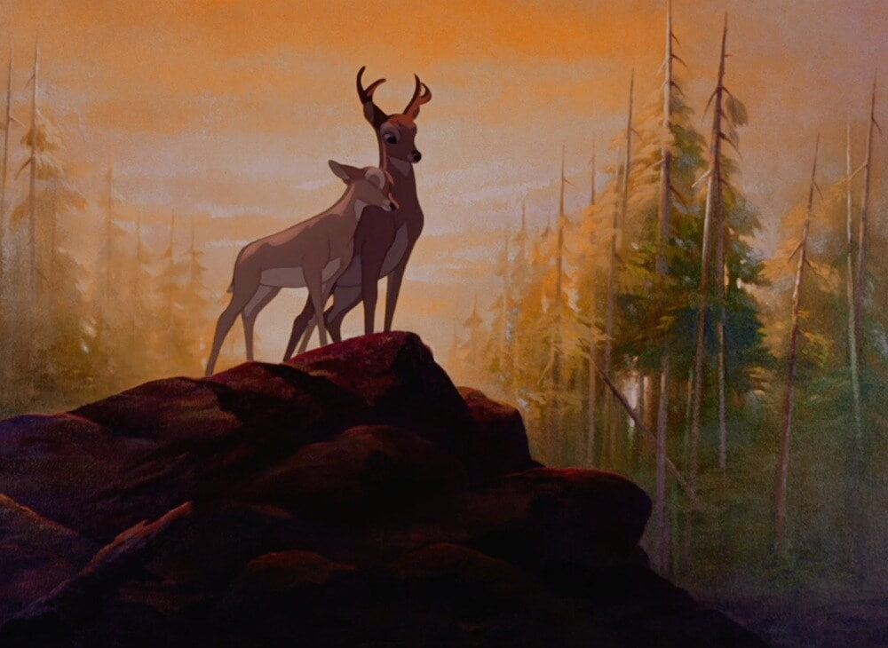 """Bambi and Faline in """"Bambi"""""""