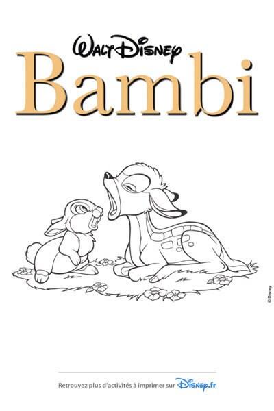Coloriage Les amis Panpan et Bambi