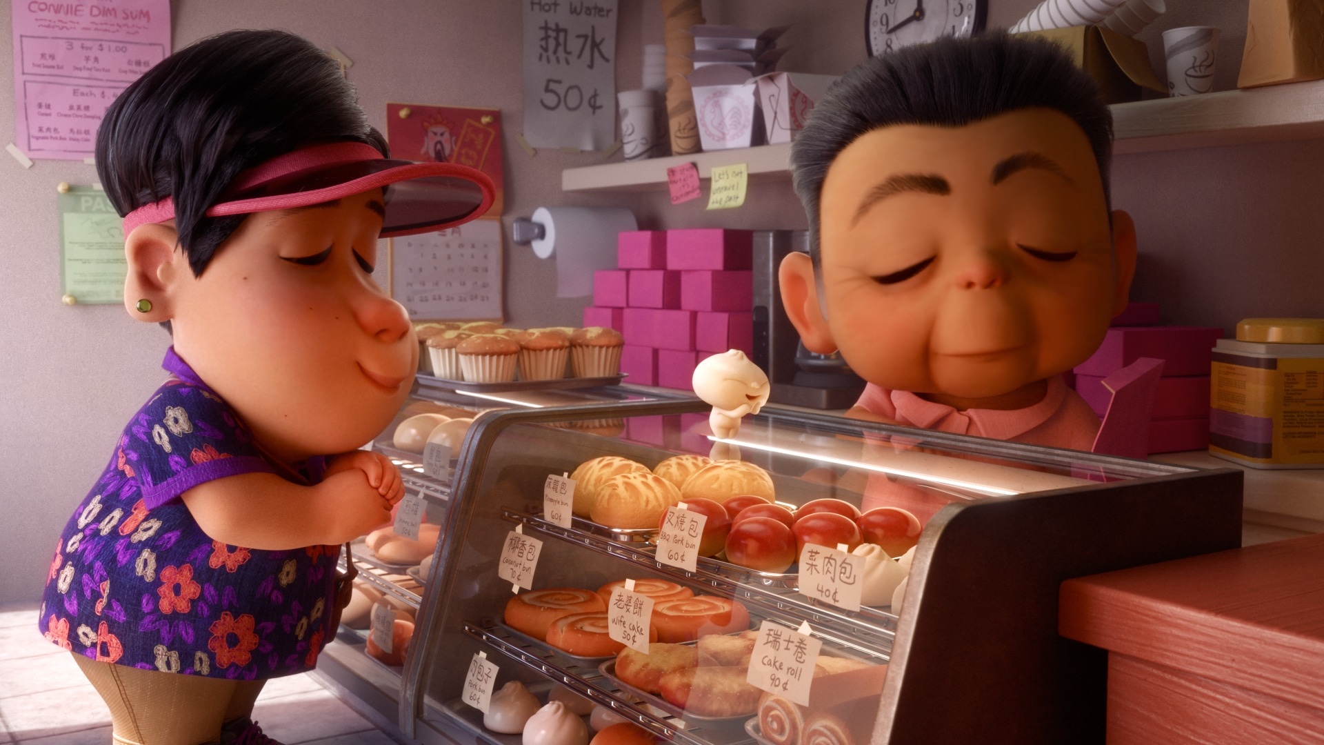 mom and bao at a bakery