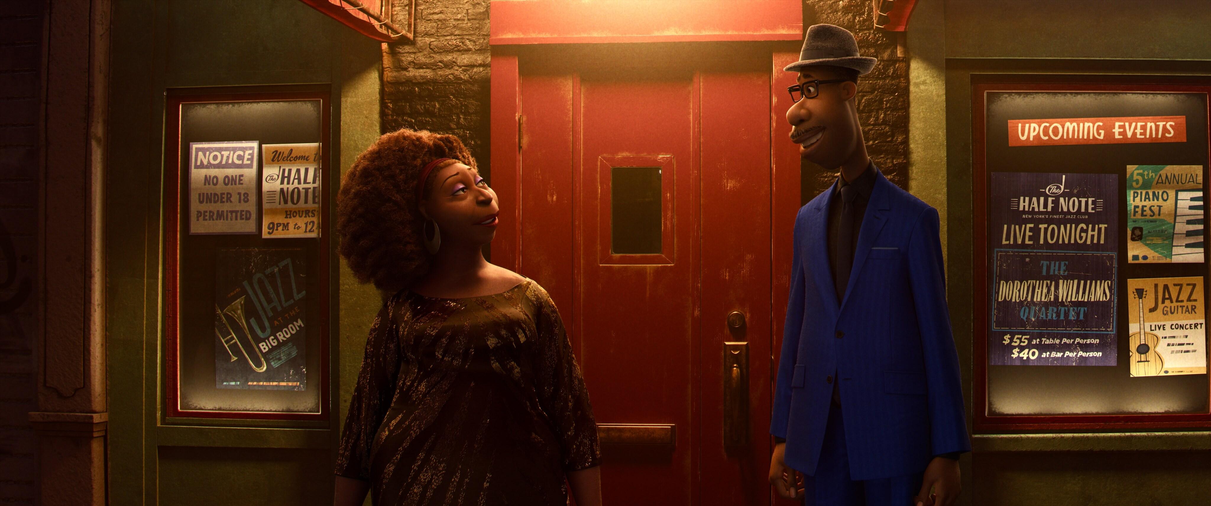Joe and Dorothea Williams in Pixar's Soul