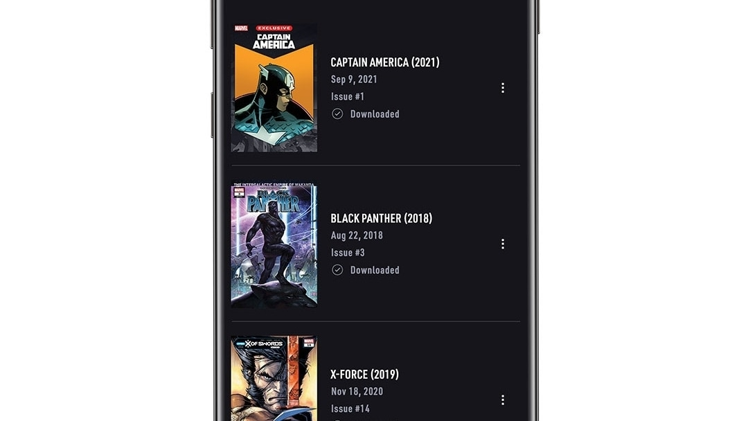 Downloads App Screen Image on White Background