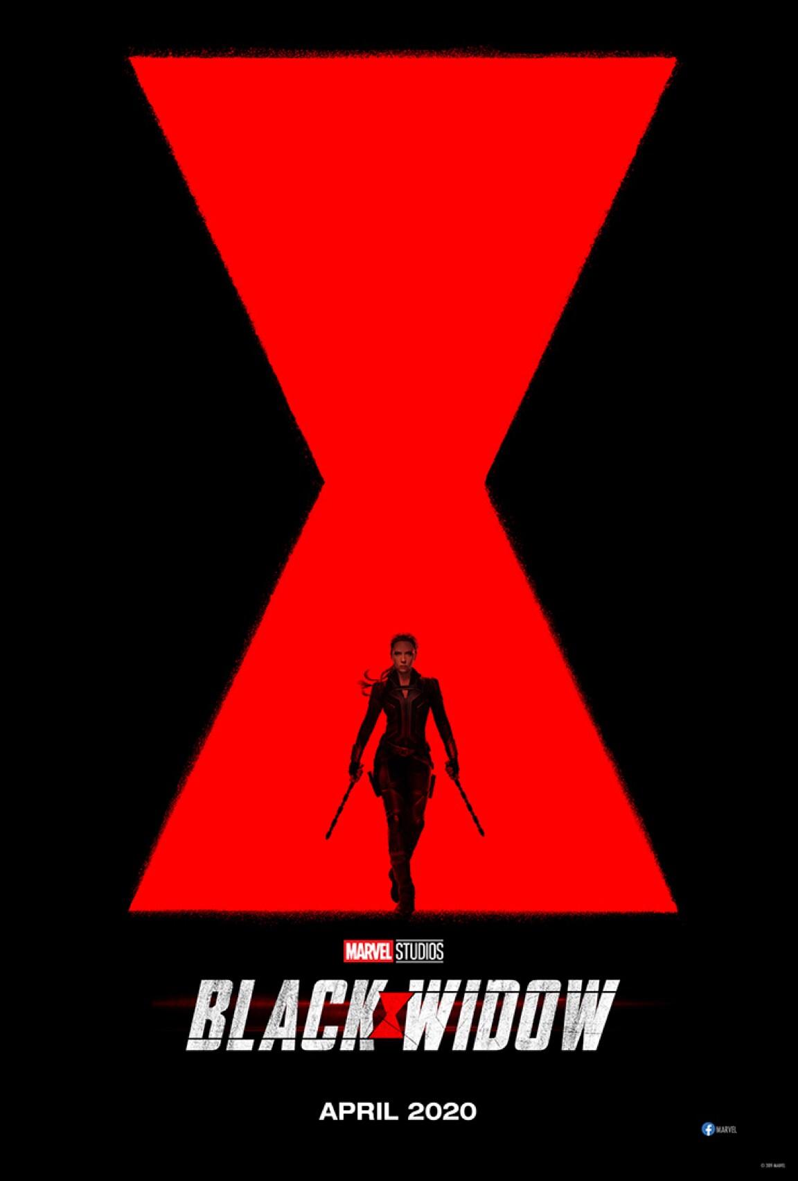 Silhouet van Black Widow voor het logo