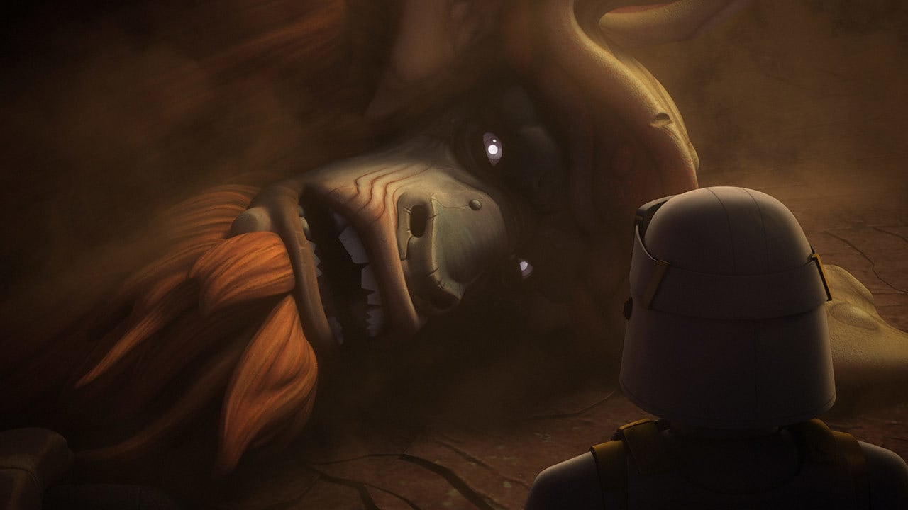 The Bendu speaking doom over Grand Admiral Thrawn