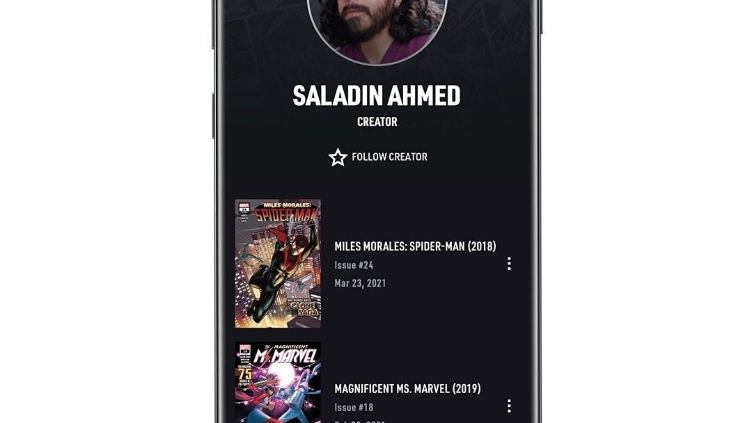 Creator App Screen Image on White Background