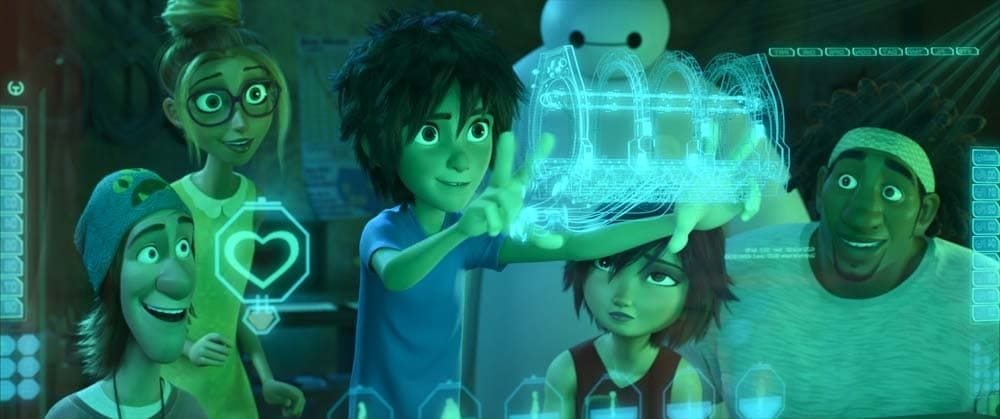 """Hiro and his friends in the animated movie """"Big Hero 6"""""""