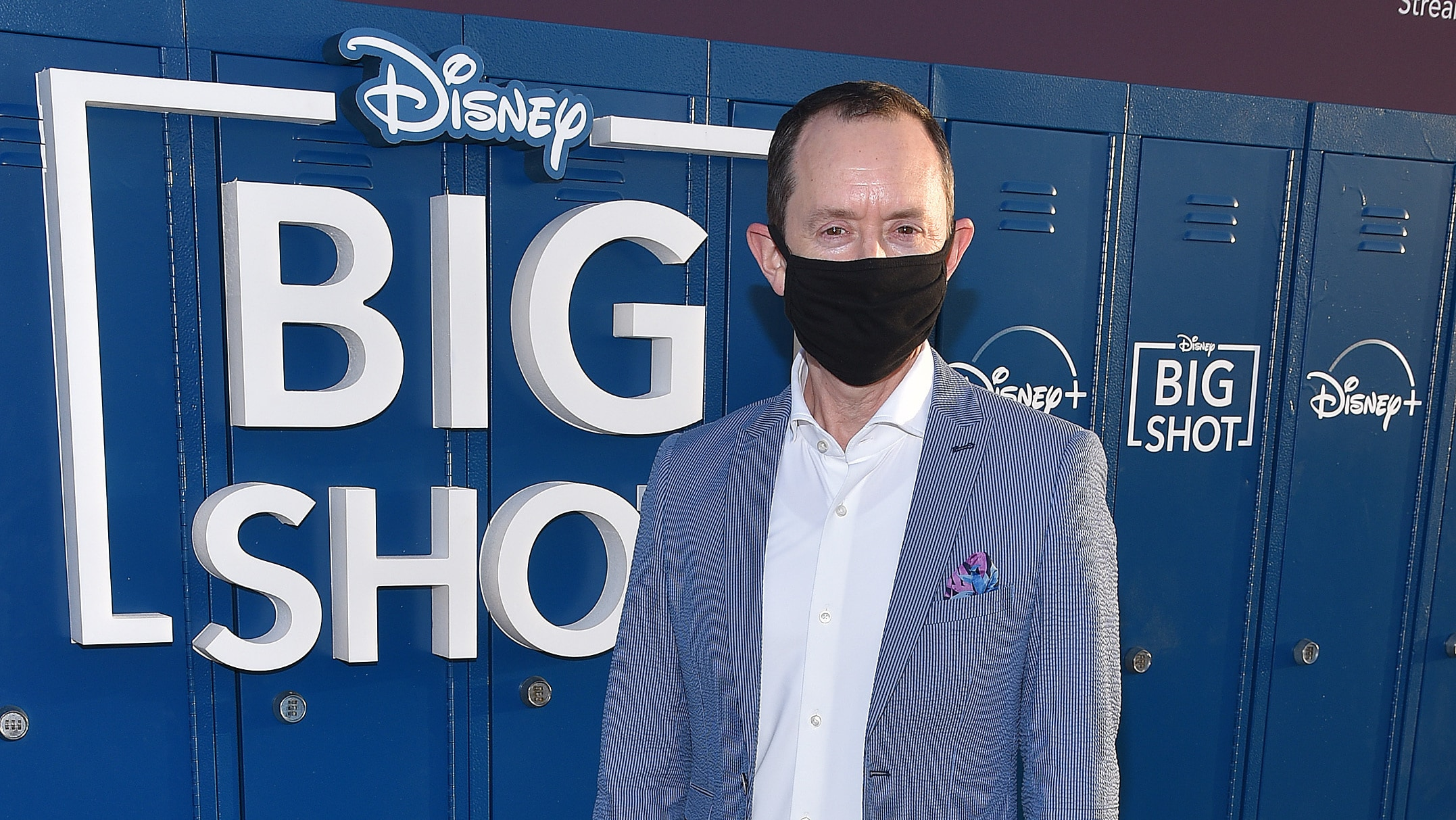"""LOS ANGELES, CA - APRIL 14: Richard Robichaux attends the world premiere drive-in screening of the Disney + original series """"BIG SHOT"""" at The Grove in Los Angeles, California on April 14, 2021. (Photo by Stewart Cook/Disney +/PictureGroup)"""