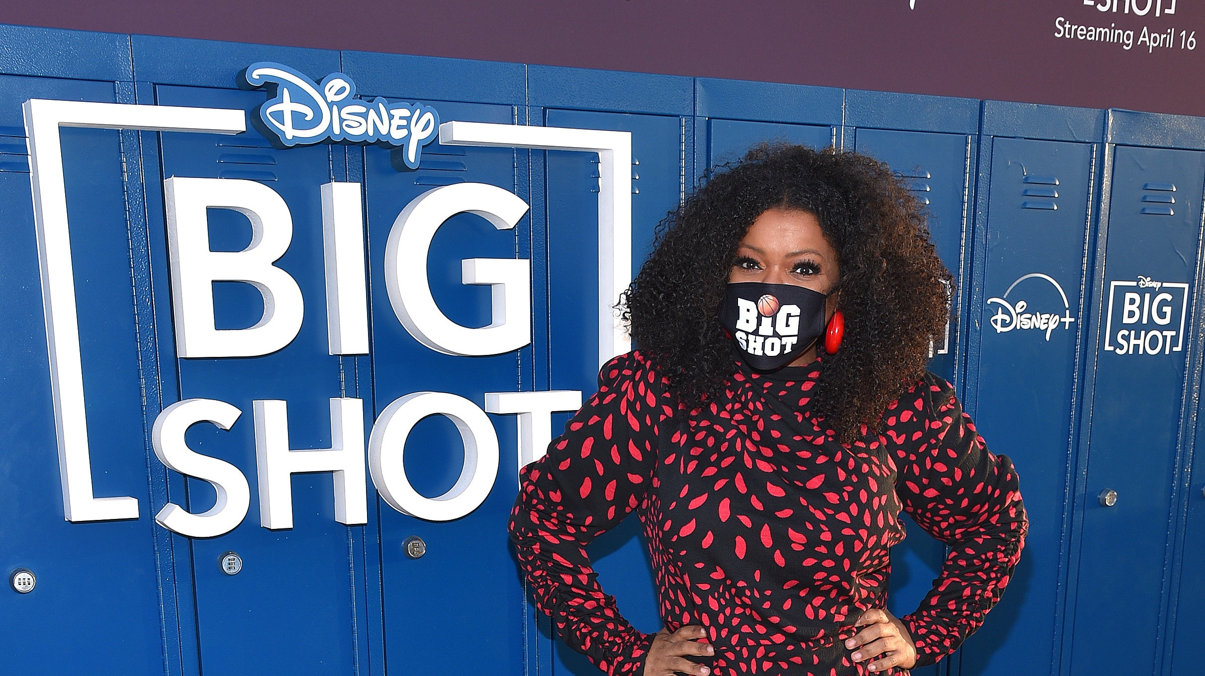 LOS ANGELES, CA - APRIL 14: Yvette Nicole Brown attends the world premiere drive-in screening of the Disney + original series ìBIG SHOTî at The Grove in Los Angeles, California on April 14, 2021. (Photo by Stewart Cook/Disney +/PictureGroup)