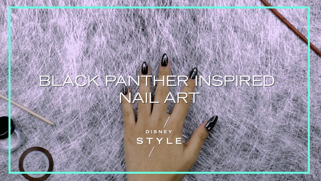 Black Panther Inspired Nail Art | Disney Style