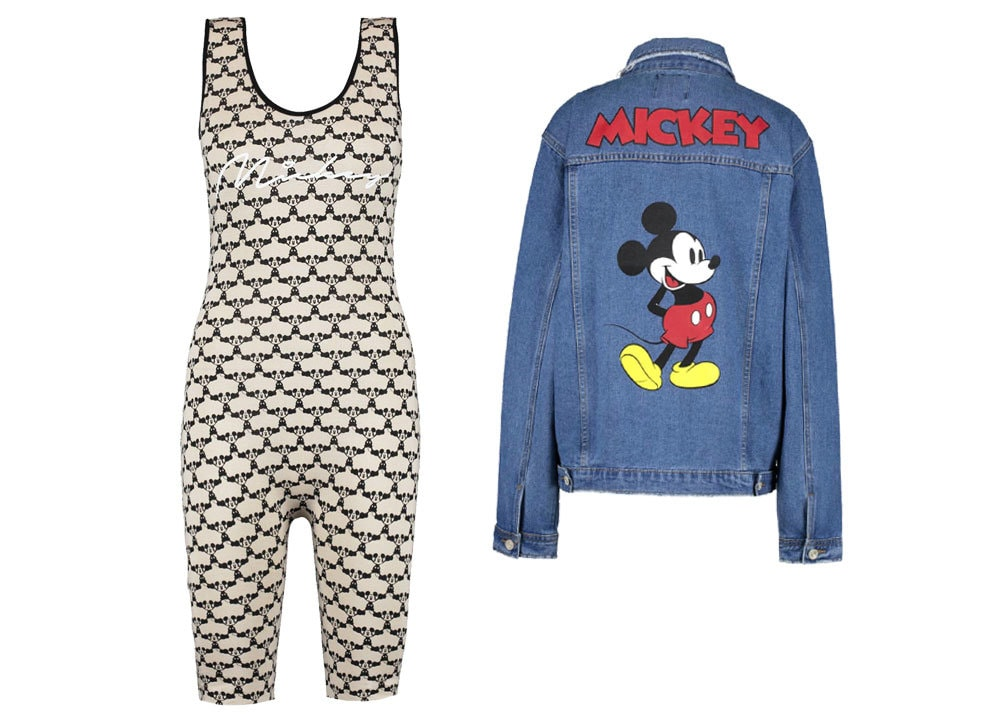 Clothing items from Boohoo's Mickey Mouse Collection