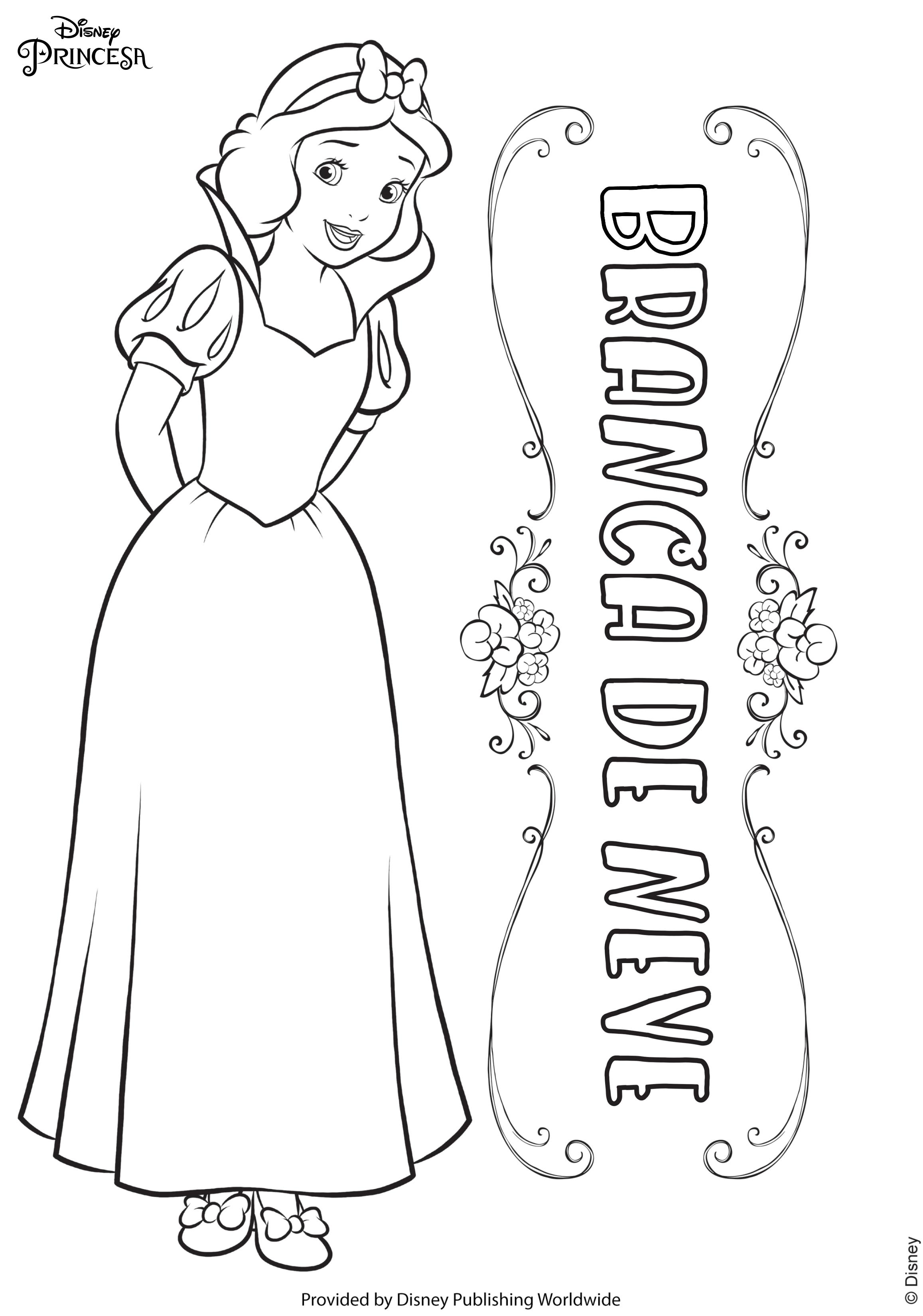 Desenhos Das Princesas Para Colorir Disney Brasil