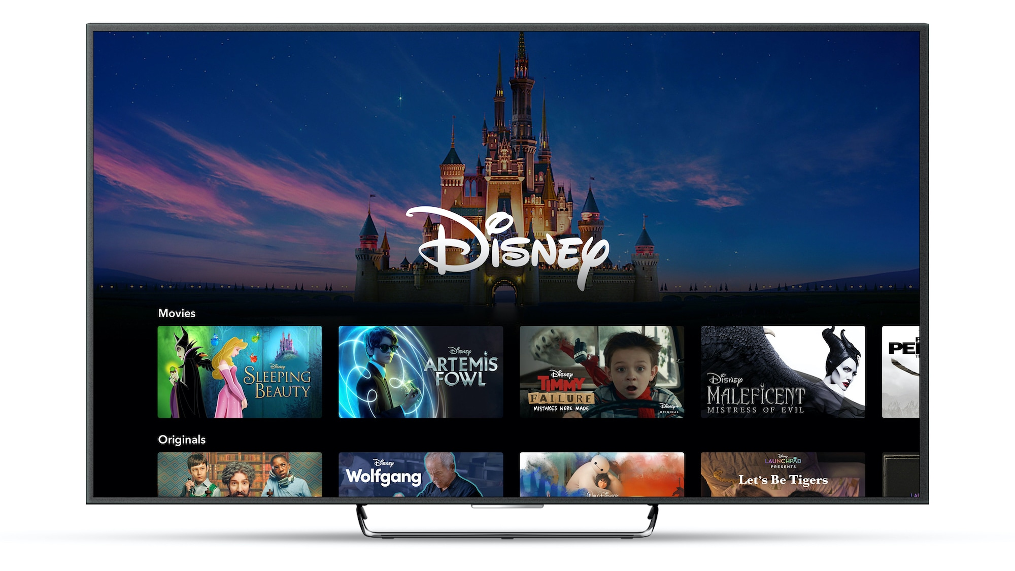 Disney+ Brand Landing Page on Connected TV Device