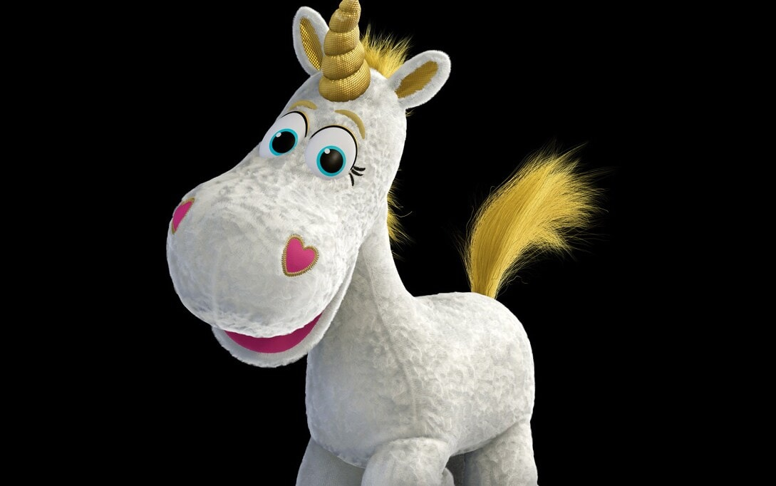 """The stuffed unicorn Buttercup from the movie """"Toy Story 3"""""""