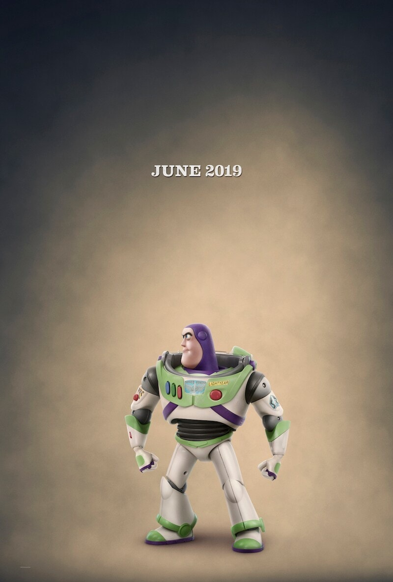 June 2019, Buzz Lightyear looking to his right