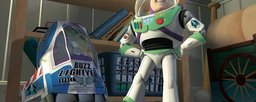 "Buzz Lightyear from the animated movie ""Toy Story"""