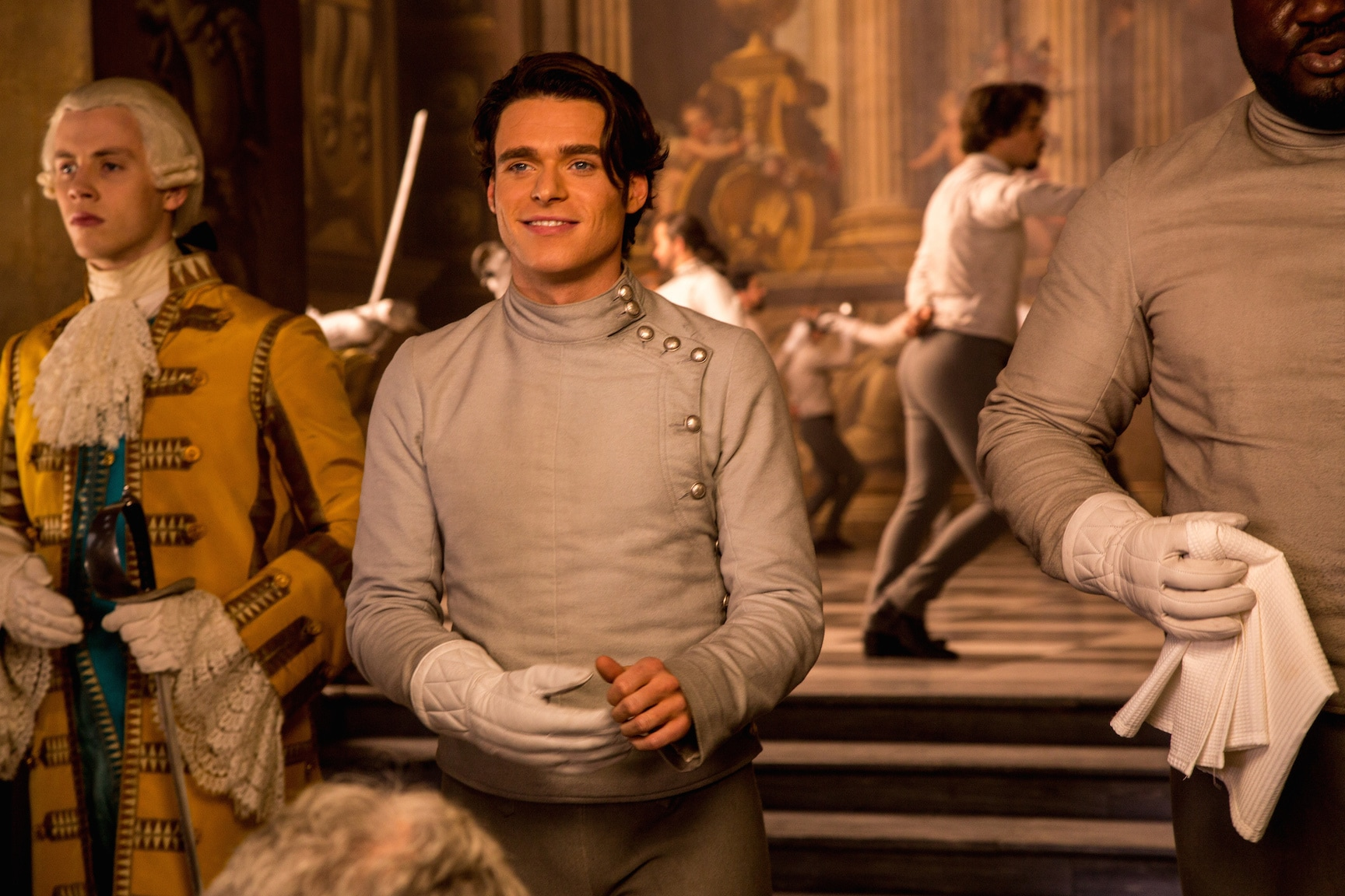 Actor Richard Madden (as the Prince) in the movie Cinderella.