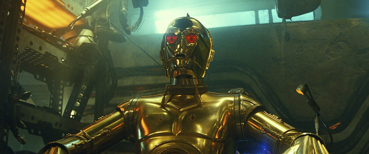 C-3PO in Babu Frik's Workshop