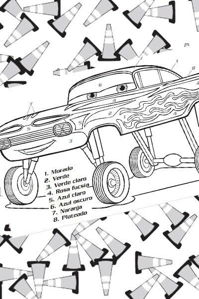 Cars - Colorea a Ramón
