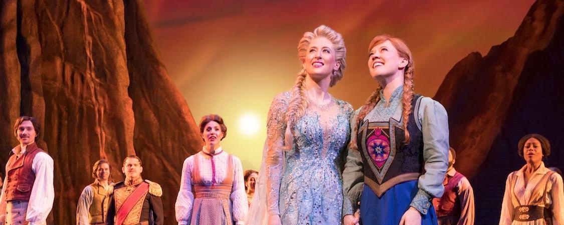 Frozen cast on stage
