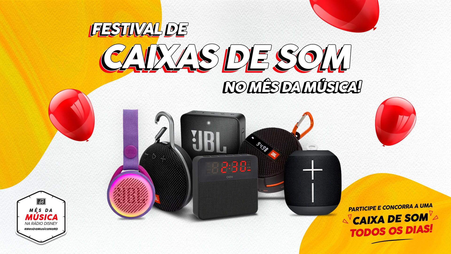 TODO DIA TEM CAIXA DE SOM COM BLUETOOTH NO MÊS DA MÚSICA RÁDIO DISNEY