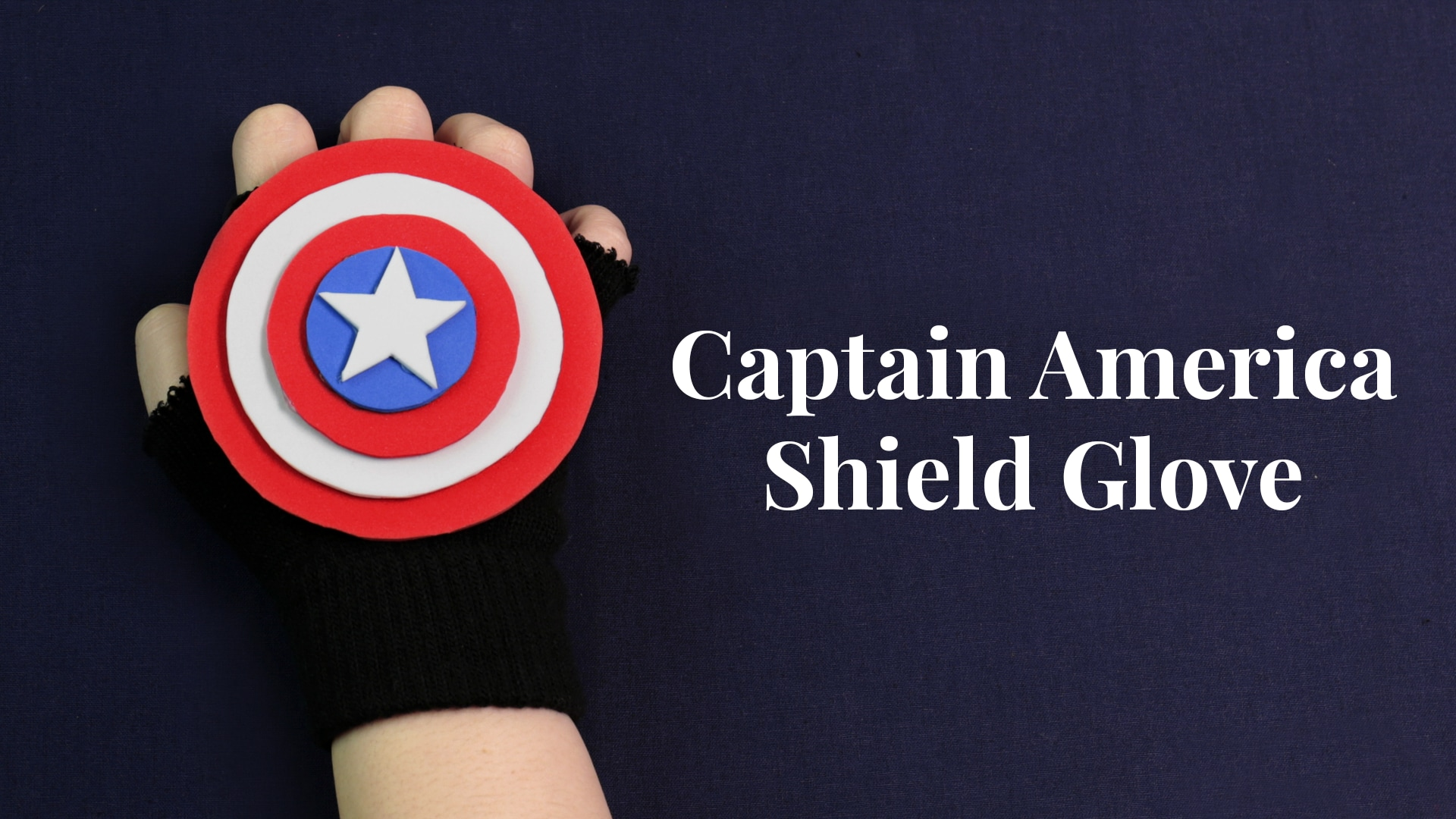 Channel Your Inner Super Hero With This Diy Captain America Shield Glove