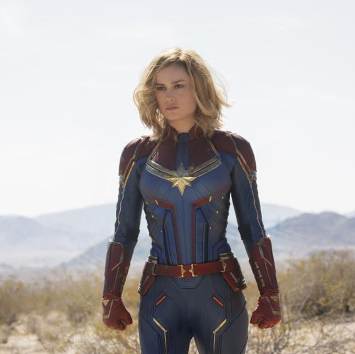 Brie Larson Didn't Feel Nervous on the Set of Captain Marvel