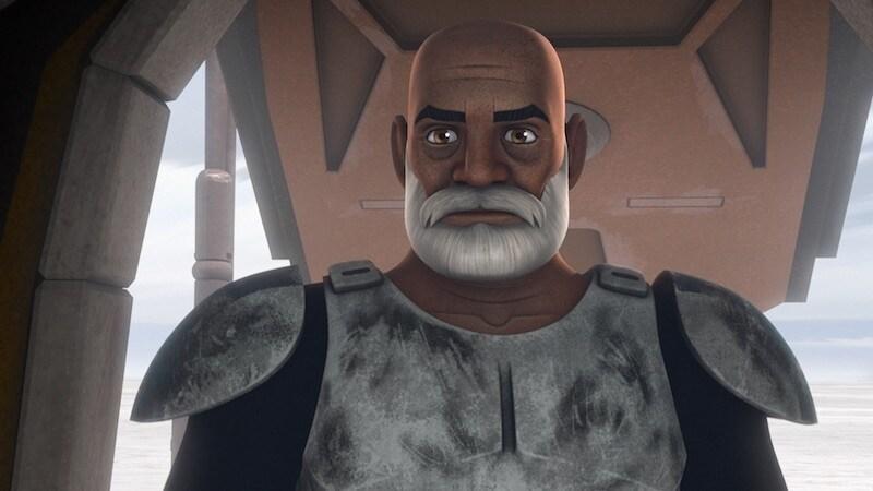 An aged Captain Rex on Seelos