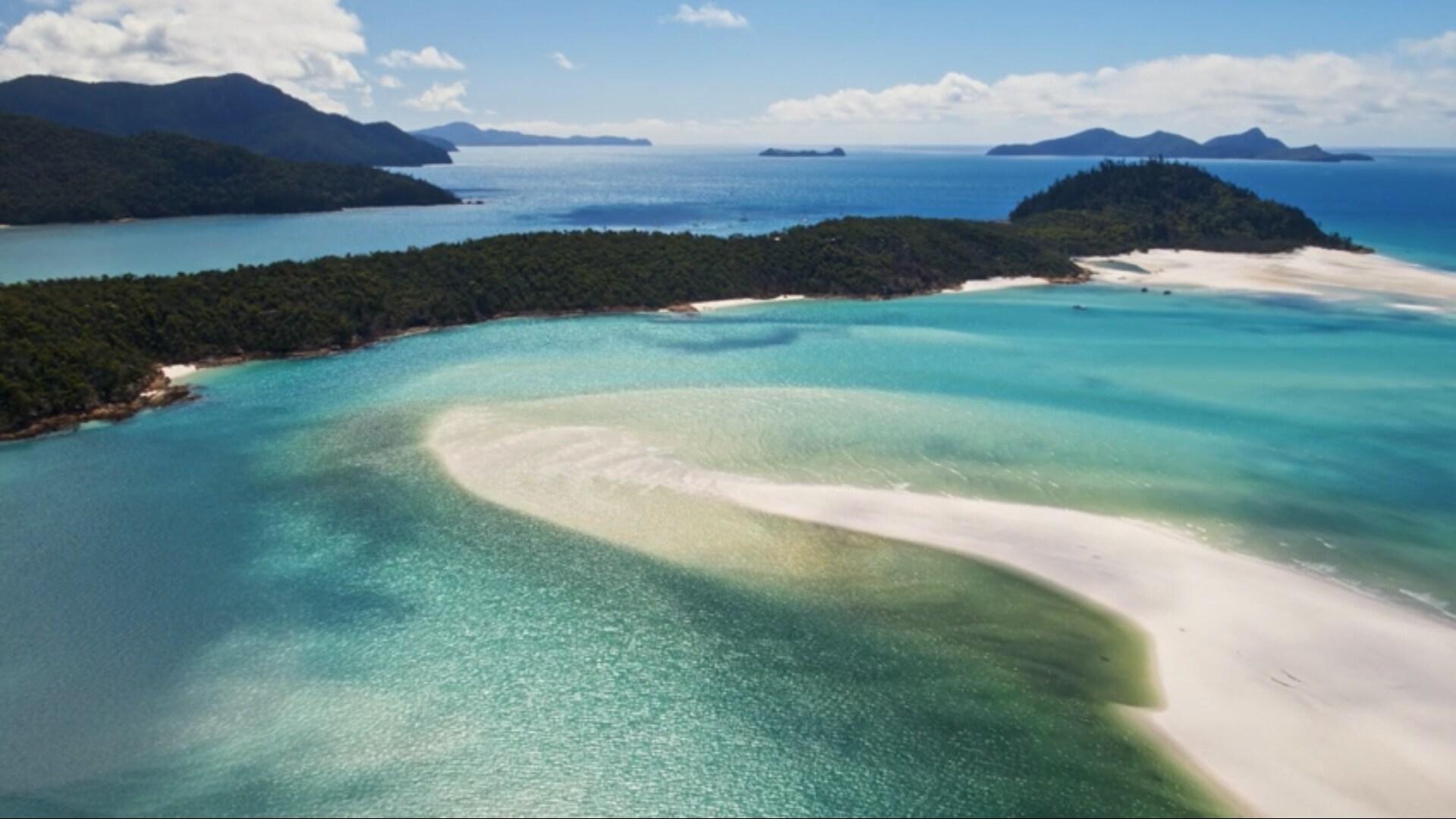 imagem aérea de praia