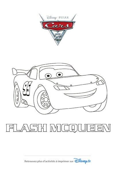 Coloriage Flash McQueen fait peau Neuve