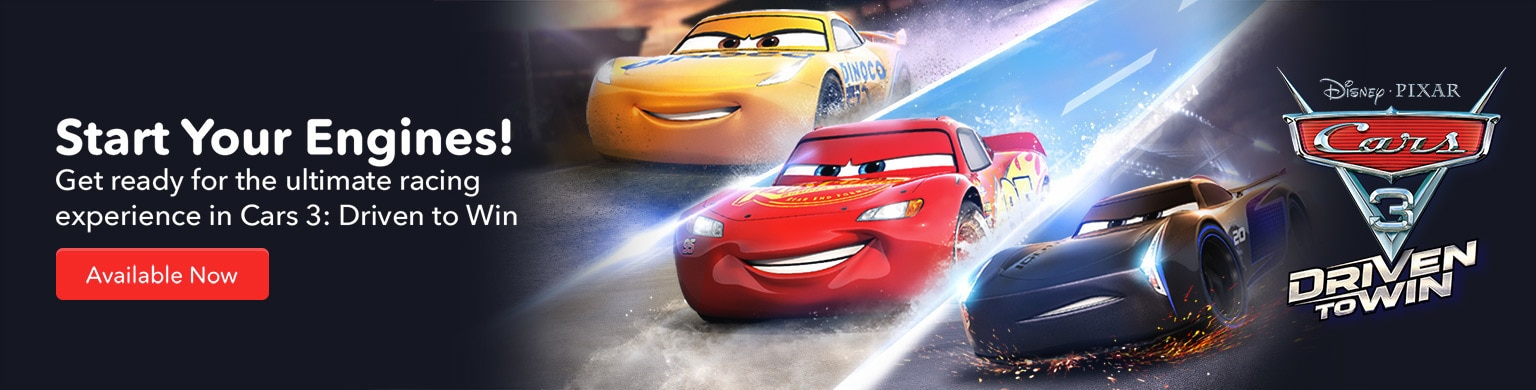 Cars 3: Driven to Win Available Now