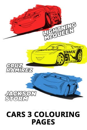 Cars 3 Colouring Pages Disney Movies Philippines