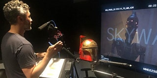 CAST AND CREATOR PHOTOS FROM THE MANDALORIAN SET