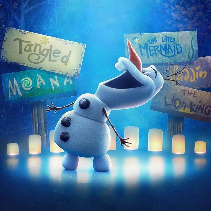 Olaf Presents keyart featuring Olaf