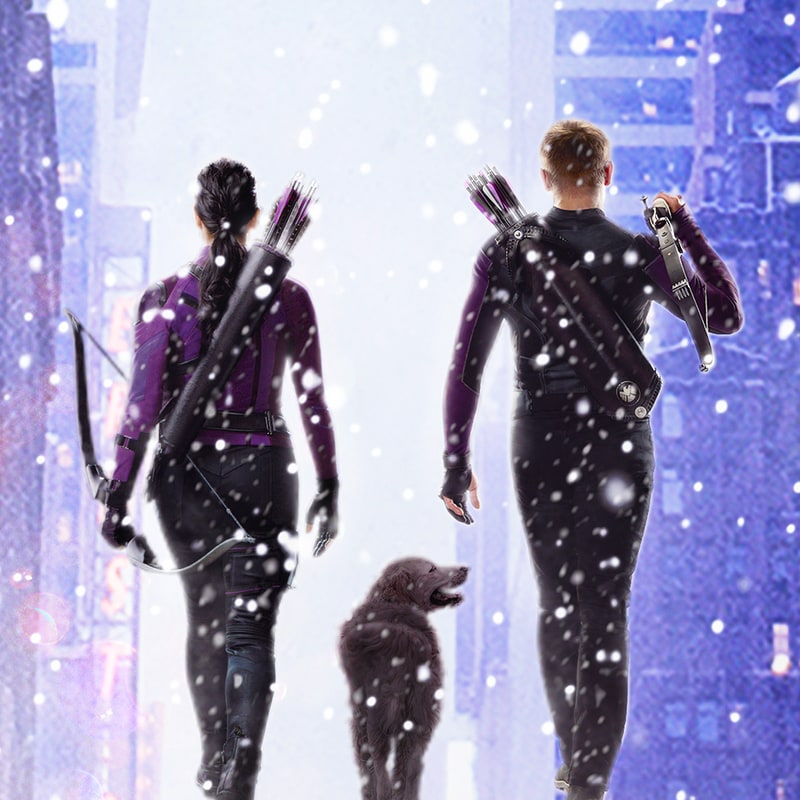 Hawkeye movie poster close-up