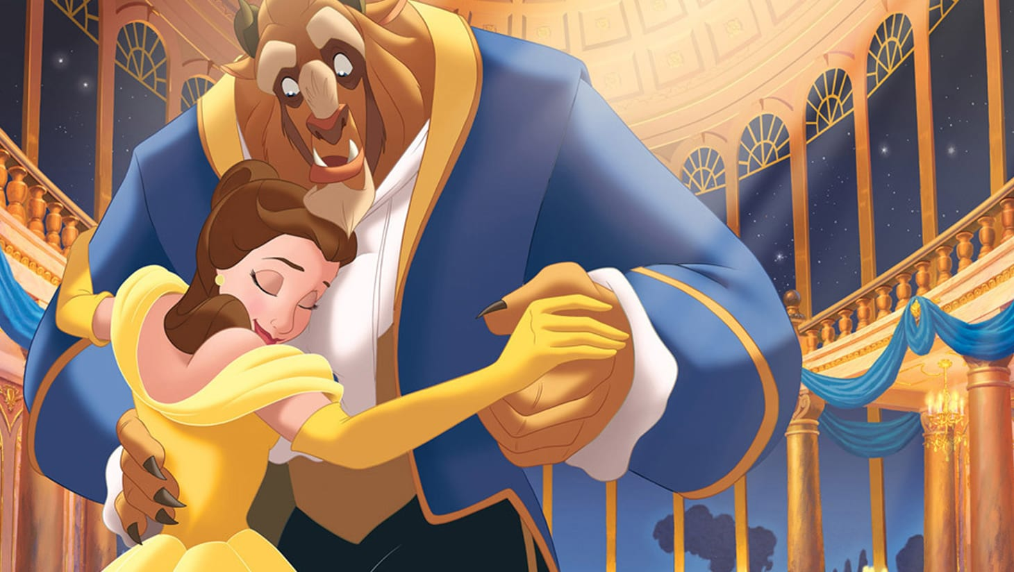 Belle and the Beast in the ballroom